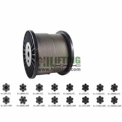 Galvanized Steel Wire Rope 6×25 6x26SW 6X36SW 6X37S