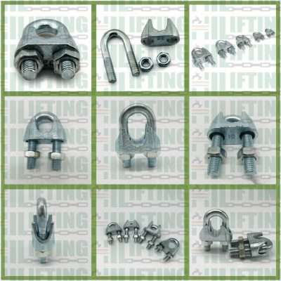 DIN 741 Malleable Wire Rope Clip Details