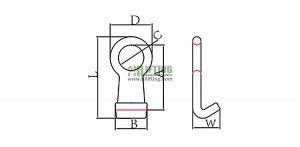 G80 Forged Barrel Hook Sketch
