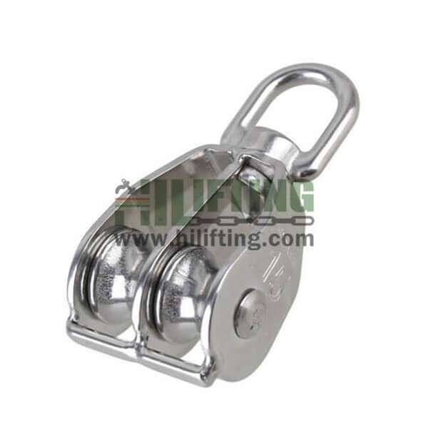 Stainless Steel Double Swivel Eye Pulley