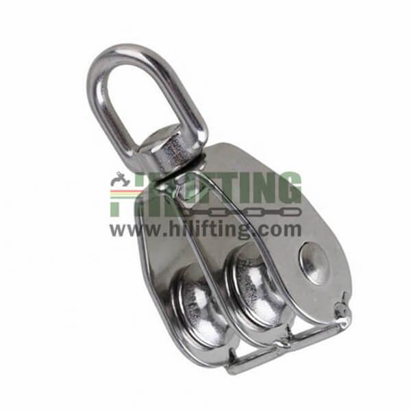 Stainless Steel Double Wheel Pulley Eye End Swivel