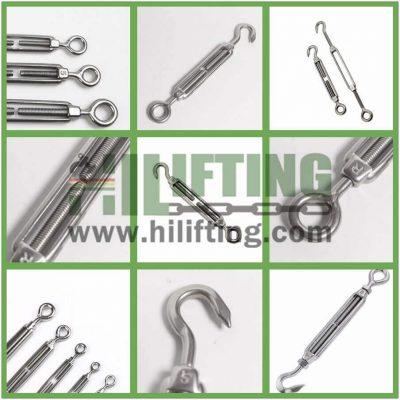 Stainless Steel European Type Turnbuckle Eye and Hook Details