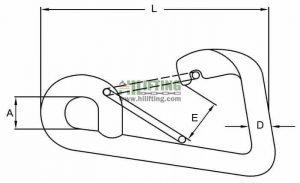 Stainless Steel Simple Spring Snap Hook Sketch