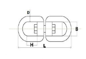 Stainless Steel Chain Swivel Eye Eye Sketch