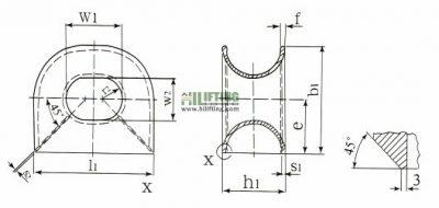 DIN81915 Type C Chock Sketch