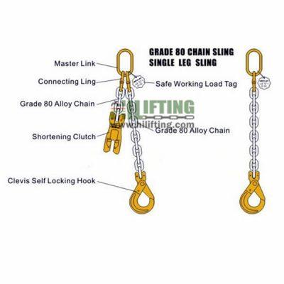 Grade 8 Single Leg Chain Slings