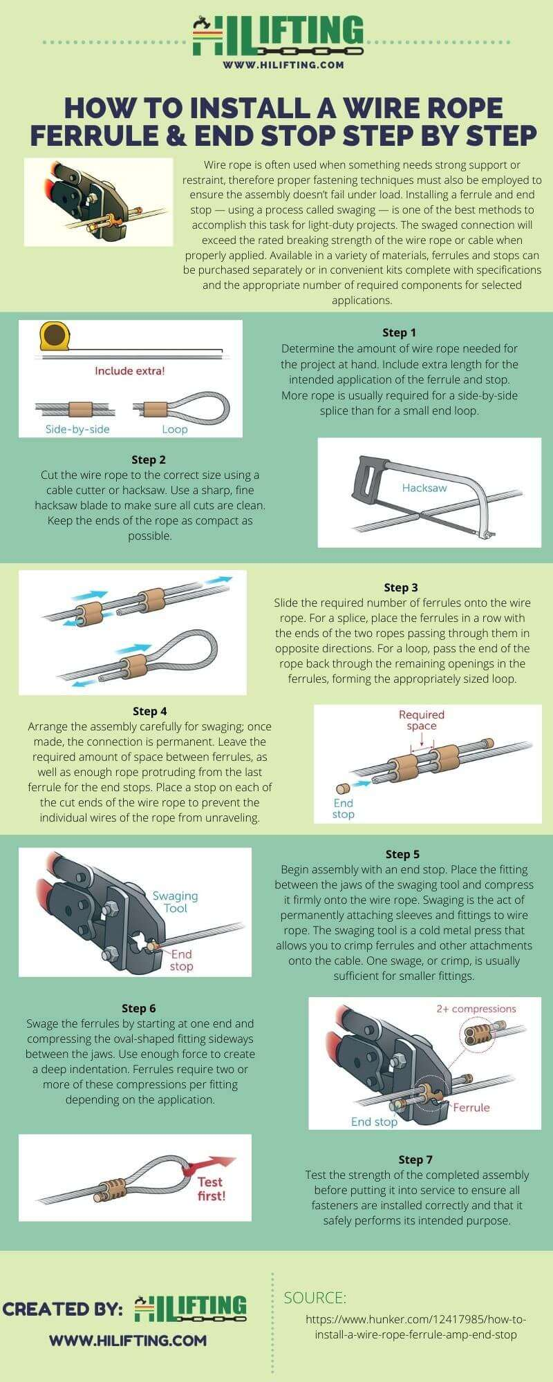 How To Install A Wire Rope Ferrule & End Stop Step By Step